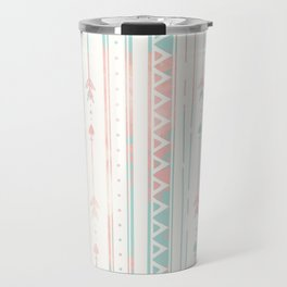 Geometrical blush blue coral pink bohemian arrows Travel Mug