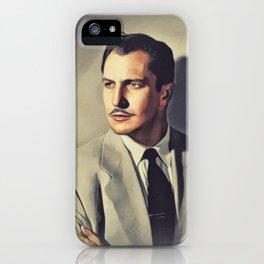 Vincent Price, Vintage Actor iPhone Case