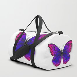 Tricolored Butterfly Duffle Bag