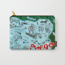 Map of Oregon Carry-All Pouch