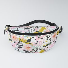 Flowery abstract patterns Fanny Pack