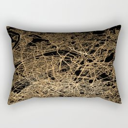 Paris map lights Rectangular Pillow