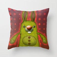 Bunny rag doll  Throw Pillow