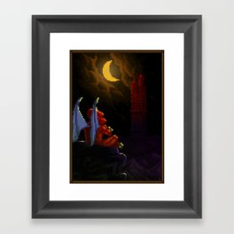 Pixel Art series 4 : Demon Framed Art Print
