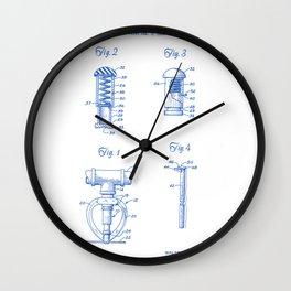 Fire Sprinkler Head Closure Plug Vintage Patent Hand Drawing Wall Clock