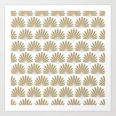 White & Tan Daisies Art Print