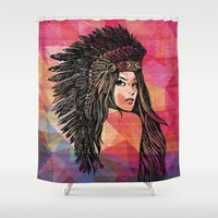 coachella Shower Curtains featuring RIVIERA by XD Art