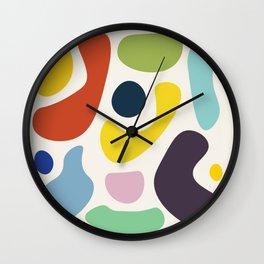Mid Century Colour Pop Wall Clock