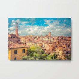 A View of Siena Italy Metal Print