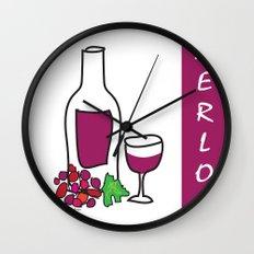 Merlot Wine Wall Clock