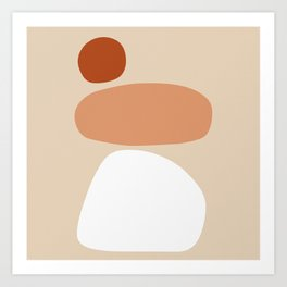 Abstract Shape Series - Stacking Stones Art Print