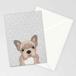 Beige Frenchie Puppy 001 Stationery Cards