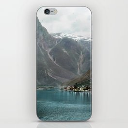 Village by the Lake & Mountains iPhone Skin
