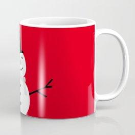 Christmas Snowman-Red Coffee Mug