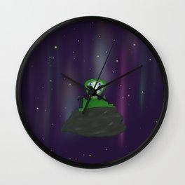 Alien joker Wall Clock