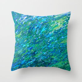 Shades Of Blue Waterfall Throw Pillow