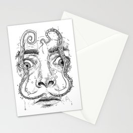 octopus dali Stationery Cards