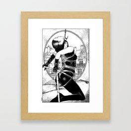 asc 433 - La journée au Saint James (A usual day at The Saint James) Framed Art Print