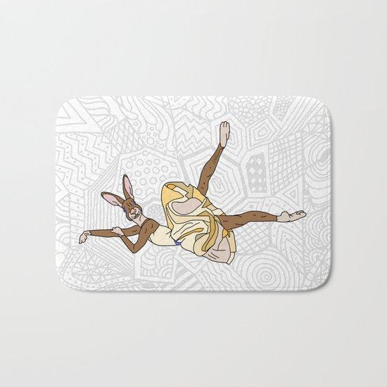 Bunny Rabbit Ballerina Tutu Bath Mat