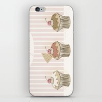 cupcakes iPhone & iPod Skins featuring Cupcakes by Cecilia Sánchez