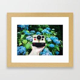 Vintage Instant Camera Framed Art Print