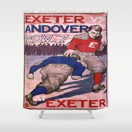 Vintage poster - Exeter vs. Andover College Football Shower Curtain