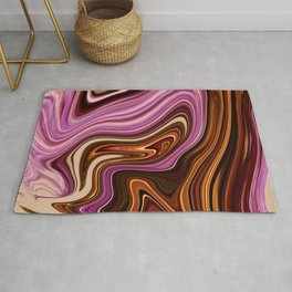 Marble Marbled Abstract Paint X Rug