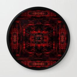 Red Black Pattern 1 Wall Clock