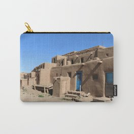 Taos Pueblo Village Road Carry-All Pouch