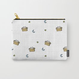 Cat print - Floating Through Space Carry-All Pouch