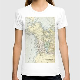 Vintage Map of Canada T-shirt