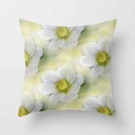 flowers -10- seamless pattern Throw Pillow