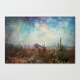 Two little mountains textured Canvas Print