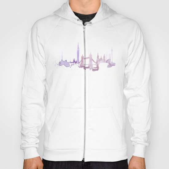 Watercolor landscape illustration_London Hoody