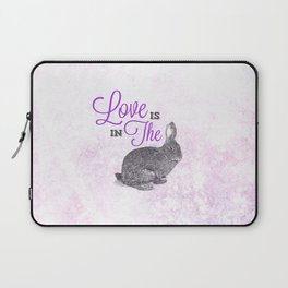 Love is in the hare. Laptop Sleeve