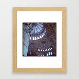 Blue Mosque Framed Art Print
