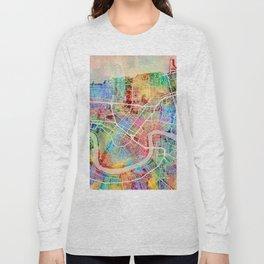 New Orleans City Street Map Long Sleeve T-shirt