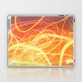 Late Night Venture Through a Bustling City of Lights Laptop & iPad Skin