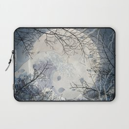 The Great Wave Off Kanagawa Over The Moonlight Laptop Sleeve