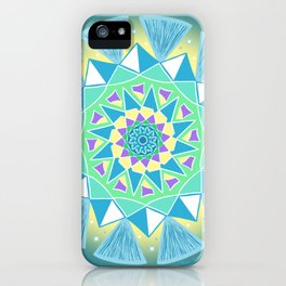 Glowing Star Mandala iPhone Case
