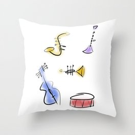 Minimalist Band Throw Pillow
