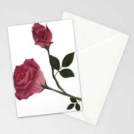 Mystical Maroon Rose Stationery Cards