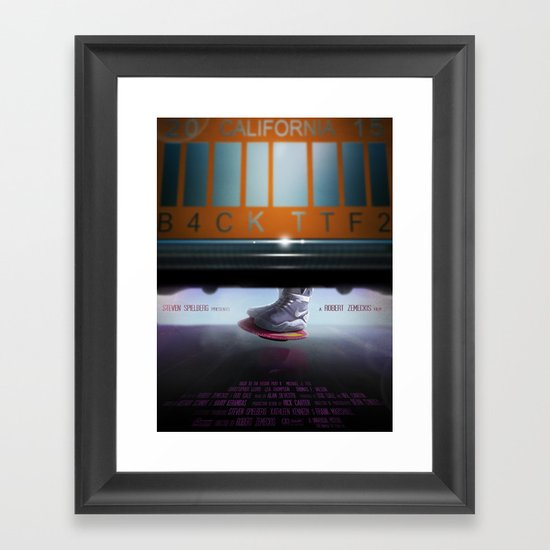 Back To The Future - Mag Framed Art Print