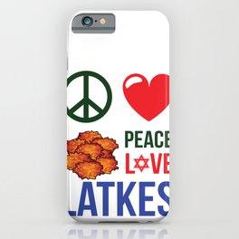 Peace Love Latkes iPhone Case