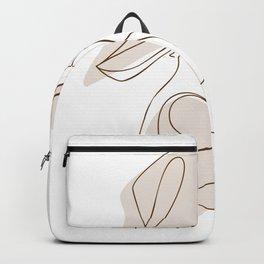 Aesthetic female line art illustration Backpack