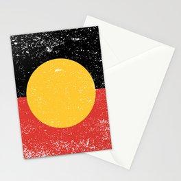Australian Aboriginal Grunge Flag Stationery Cards