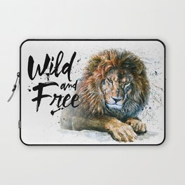 Lion Wild and Free Laptop Sleeve