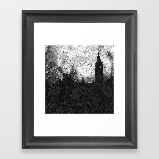On A Rainy Day in London Framed Art Print