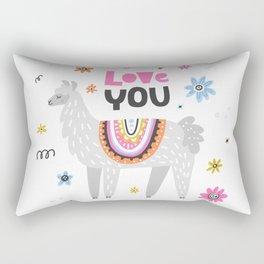 Love you lama Rectangular Pillow