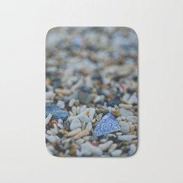 Sea Washed Blue China Bath Mat